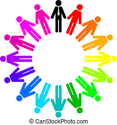 colorful peoples - Vector Illustration of colorful peoples...