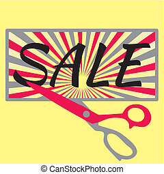 Sale with scissors
