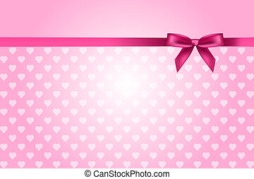 pink background with hearts - Vector pink background with...