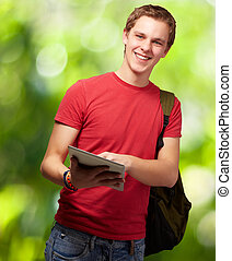 Portrait Of A Young Student, Outdoor