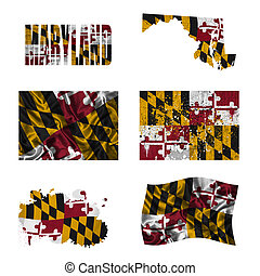 Maryland flag collage