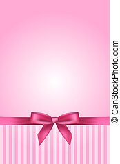 Vector pink background with bow