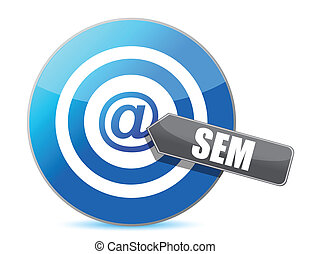 SEM target illustration design over a white background