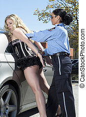 woman forcefully arrested - A sexy woman forcefully arrested...