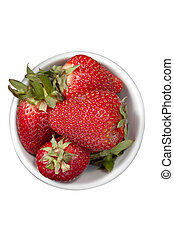 a bowl of red strawberries