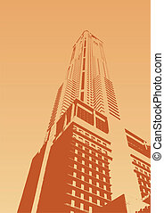 Skyscraper 5 - The skyscraper rests directly against the...
