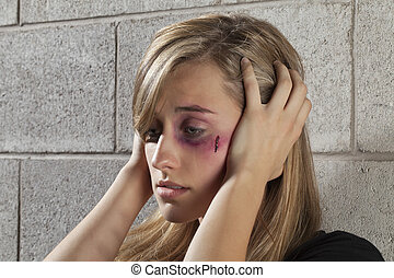abused and confused woman - Image of an abused and confused...