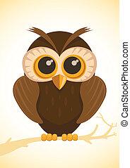Vector cute owl