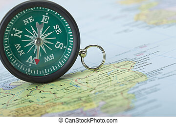 compass pointing to the west - Compass pointing to the west...