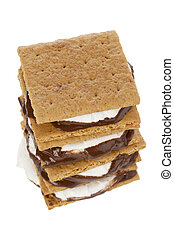 delicious smores sandwich - Close-up portrait of delicious...