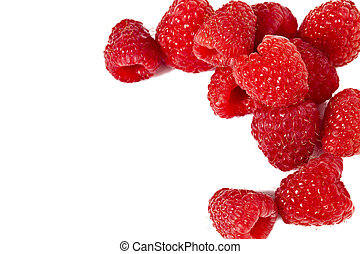 eurasian red raspberries - Eurasian red raspberries on a...