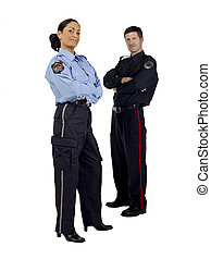 police officers with arm crossed - Portrait of police...
