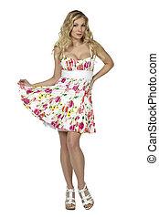 pretty woman in dress