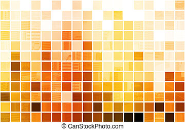 Orange Cubic Professional Abstract Background