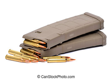 Gun Clips -  automatic gun clips with bullets