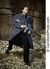 contract killer agent character - View of a contracted type...
