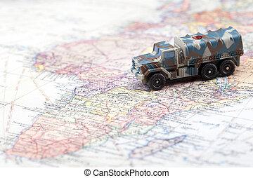 armored land vehicle - Military armored land vehicle on a...