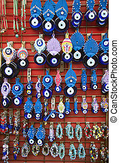 Turkish Evil Eye Trinkets, Istanbul, Turkey