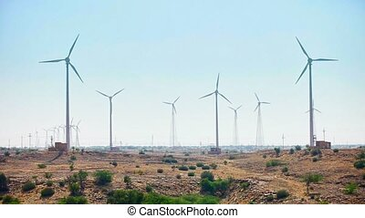 Wind electric generator - power stations in desert