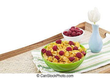 breakfast meal set - Close up image of breakfast meal set...