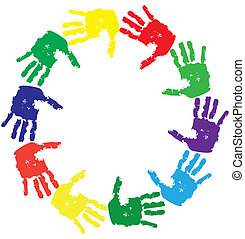 hands - vector hand prints