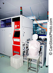 Automated production line in modern Solar silicon factory