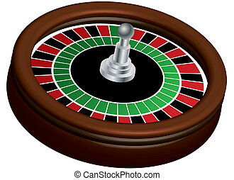 Roulette Wheel - An illustration of a roulette wheel
