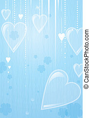 Heart valentines day background. EPS10. Contains transparent...