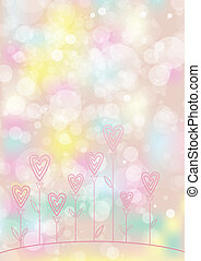 Valentines love flower background. EPS10. Contains...