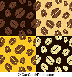 coffee beans seamless pattern background pattern vector...