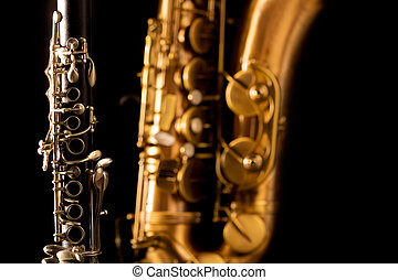 clássicas, música, Sax, Tenor, saxofone,...