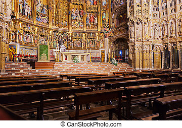 Interior of Cathedral in Toledo Spain - Interior of Saint...