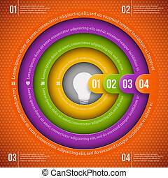 Abstract infographic design template with numbered elements
