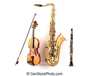 Sax, Tenor, saxofone, violino, clarinete, branca