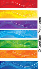 Web banners set - A set of web banners of different colors