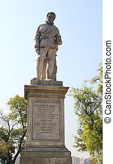 Statue of Don Pedro de Valdivia - SANTIAGO, CHILE - MARCH...