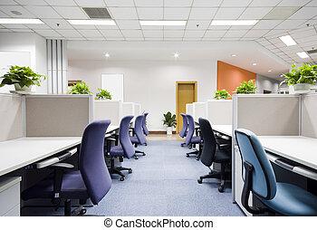 modernos, escritório, Interior