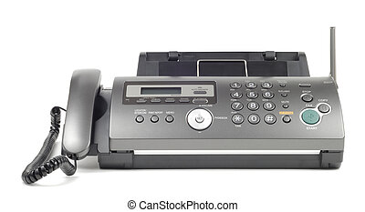 Modern Fax - New style wireless fax isolated over white...