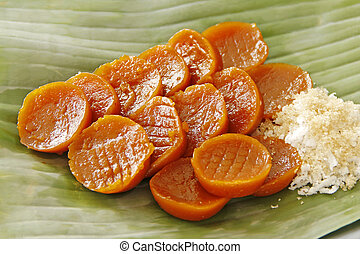 Glutinous Rice Cake - Glutinous rice cake with grated...