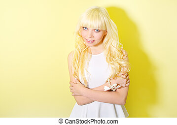 Girl with blond hair
