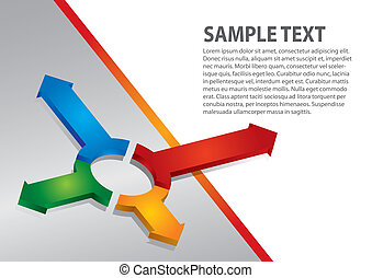 Presentation template with color arrows