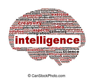 Intelligence symbol conceptual design. Creative thinking...