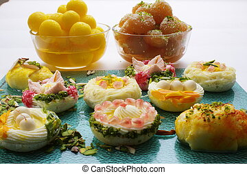 Variety of Indian sweets - Several Indian sweets like...