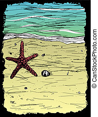 Sand, water and seastar