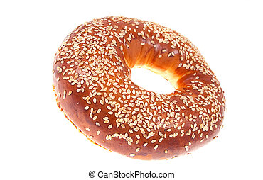 bagel isolated on a white