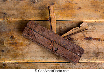 carpenter vintage wood planer tool planer rusted