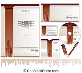 Business Card, Brochure, Envelope Design Templates