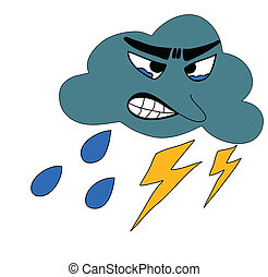 Thunderbolt Storm Weather - Thunderbolt Storm with rain Icon...