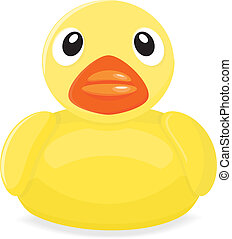 Rubber Duck - A yellow rubber duck illustration. This file...