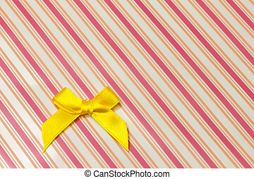 yellow ribbon - This is a photograph of a yellow ribbon
